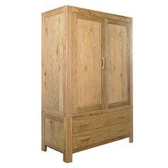 Oak lyon double wardrobe with drawers - Wardrobes - Furniture - Home & furniture -