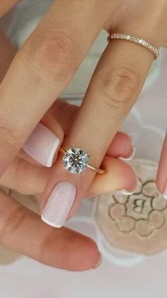 Beautiful Engagement Rings, Engagement Ring Cuts, Beautiful Rings, Wedding Engagement, Wedding Bands, Engagement Rings White Gold, Round Solitaire Engagement Ring, Gold Solitaire Ring, Designer Engagement Rings