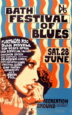 Bath Festival of Blues 1969 Tour Posters, Band Posters, Music Posters, Blues Rock, Poster Festival, Concert Rock, John Mayall, Jazz, Psychedelic Music
