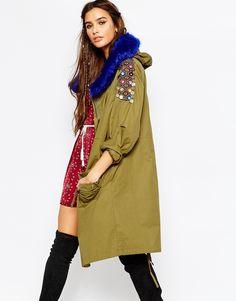 Native+Rose+Fur+Trim+and+Embellished+Parka