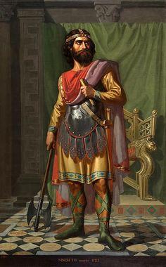 Sisebut King Of The Visigoths  Mariano De La Roca y Delgado