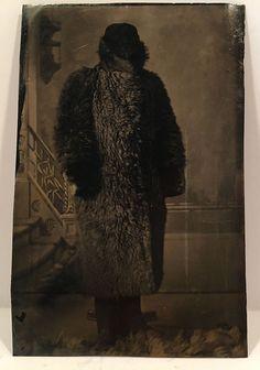1889 RARE Unusual Tintype Photo Strange Mystery Fur Coat Winnipeg Manitoba…