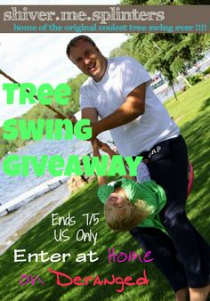 Shiver Me Splinters tree swing #giveaway at Home on Deranged