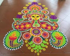 rangoli innovative ideas - Google Search