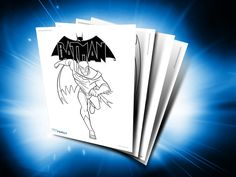 Themed Printables: Beware the Batman | DC Comics. HECK YES! Break out that black crayon, ladies and gents.