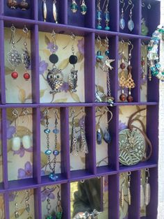 Hey, I found this really awesome Etsy listing at https://www.etsy.com/listing/128262072/personal-jewelry-display-purple-with