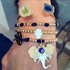 Set By Vila Veloni Gold Elephant Bracelets