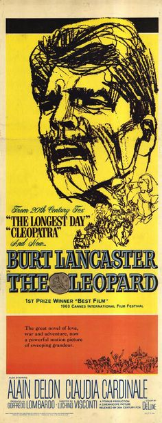 The Leopard (1963) starring Burt Lancaster, Alain Delon & Claudia Cardinale