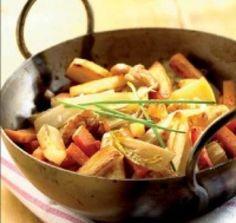 GOEDGEKEURD Winterse wok - ook lekker met currytofu, 2-3 witloof, 4 wortels