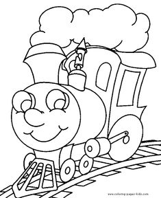 coloring book pages to print | Train color page transportation coloring pages, color plate, coloring ...