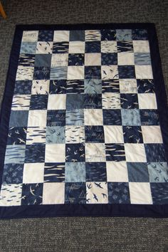 Baby Boy Nautical Quilt Hearty Good Wishes by chimeracustomquilts