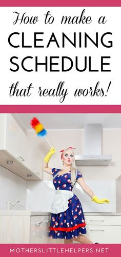 Grab your free cleaning schedule template here!