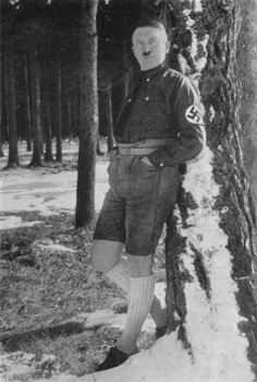 Funny Vintage Photos of Hitler Wearing Shorts and Knee-High Socks in the Late 1920s