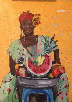 By Georgia Lobo - Madeleine - 70 X 50 - óleo sobre tela