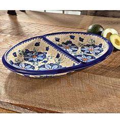 Polish Stoneware Divided Platter
