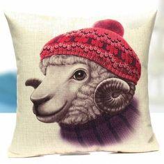 Seulement €7.44 ,acheter Mignon de porc animal coton taie d'oreiller moutons cerfs lapin jet canapé de voiture housse de coussin en lin sur Banggood.comAcheter fashion Oreillers et Housses en ligne.
