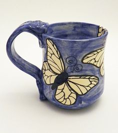 Butterflies! LOVE. #mugs #want