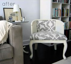 Recovered chair with large print