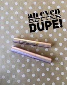 L'oreal voluminous lash paradise is a Too Faced Better than sex mascara DUPE!