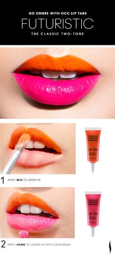 Futuristic Classic Two-Tone Lip HOW TO #OCC #makeup #ombre #Sephora
