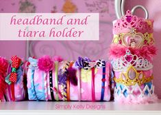 No Sew Headband and Tiara Holders by Simply Kelly Designs #princess #organization