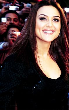 Smile for the camera. #Preity #Bollywood
