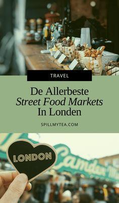 De beste street food markets in Londen | SpillMyTea.com Street Food Market, Fish And Chips, Marketing, Travel, Viajes, Destinations, Traveling, Trips