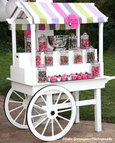 Candy Cart – Chic Sugar Like Candy Table, Candy Buffet, Dessert Table, Bar Deco, Christmas Candy Bar, Candy Stand, Sweet Carts, Bar A Bonbon, Candy Cart
