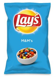 Wouldn't M&M's be yummy as a chip? Lay's Do Us A Flavor is back, and the search is on for the yummiest flavor idea. Create a flavor, choose a chip and you could win $1 million! https://www.dousaflavor.com See Rules.