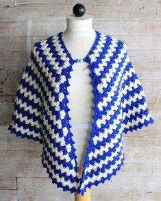 Vintage Granny Rows Capelet Crochet Pattern www.maggiescrochet