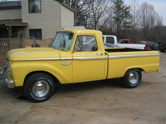 """Sweeet 1966 Ford Truck Restored.  """"have not seen this yellow before, I like it, I like this truck!"""" ...dl"""
