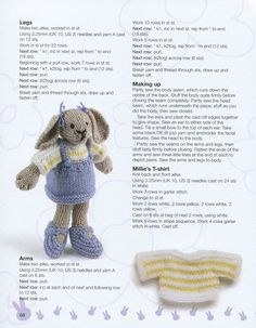 22 Ideas Crochet Amigurumi Doll Free Patterns Libraries For 2019 Knitting Dolls Free Patterns, Knitted Dolls Free, Knitted Bunnies, Knitted Animals, Knitted Teddy Bear, Crochet Dolls, Knitting Bear, Teddy Bear Knitting Pattern, Little Cotton Rabbits