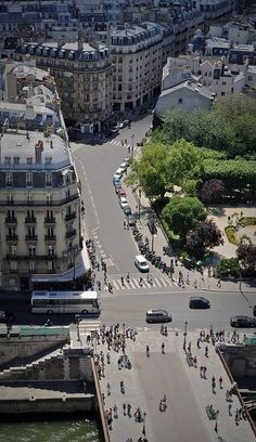 View from Notre Dame rooftop, Paris, France