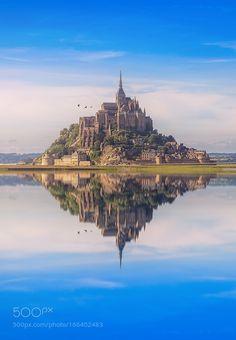 Mont Saint Michel #5 by MichelDogniaux. Please Like http://fb.me/go4photos and Follow @go4fotos Thank You. :-)