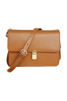 Fitted Magnet Hook Yellow-brown Aslant Bag [AB0878] - $60.99 :   romwe.com #Romwe