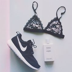 Essentials: Nikes, beautiful lingerie and Coco Chanel www.bibleforfashion.com/blog #bibleforfashion
