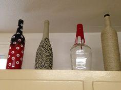Hemp wine bottle crafts i like the third and fourth