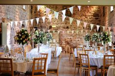 Vintage Rose Garden Bunting hired for a beautiful summer vintage themed wedding #bunting #countrywedding #weddingbunting