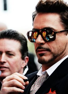 RDJ Love the reflection on his glasses.