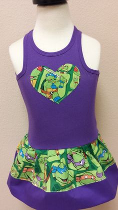 Teenage Mutant Ninja Turtles Dress. TMNT dress.