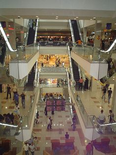 Mecca Mall, Amman, Jordan.  You can only see three of the five floors.