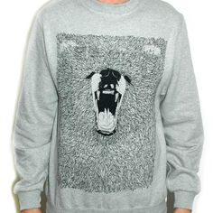 Grizzly Bear Illustrated Grey Sweatshirt