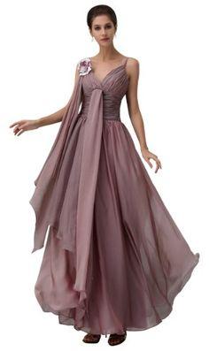 herafa p32892-4 Prom Dresses Elegant Spaghetti Strap Sleeveless Ruched Handmade Flowers Long 0 A-Line Purple $325.70