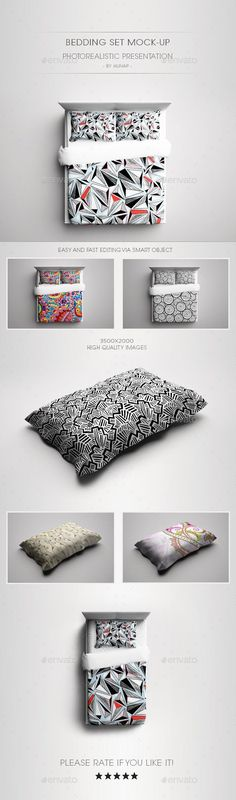 Bedding Set Mock-Up Download here: https://graphicriver.net/item/bedding-set-mockup/8272807?ref=KlitVogli