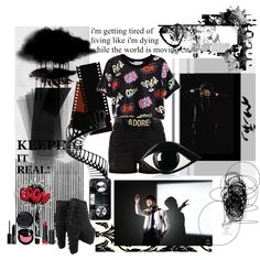 BTS by iluvsnowboarding19 on Polyvore featuring River Island, Jeffrey Campbell, Lulu Guinness, MAKE UP FOR EVER, Monki, Maybelline, NARS Cosmetics, Gucci, bts and BangtanBoys