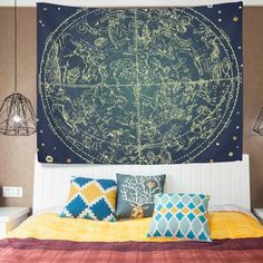 ALAZA Cottage Dorm Decor Wall Hanging Tapestry,Vincent Van Gogh Art Oil Painting Wheat Field with Crows,Bedroom Living Room Beach Doorway Curtain Christmas Thanksgiving Day Decoration inch Doorway Curtain, Curtains, Tapestries For Guys, Cute Apartment, Apartment Ideas, Trippy Tapestry, Room Decor, Wall Decor, Zodiac Constellations