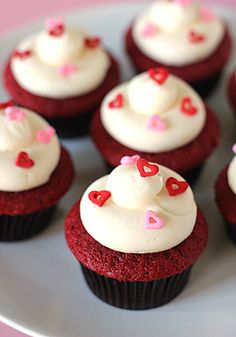 The Galley Gourmet: Red Velvet Cupcakes with Cream Cheese Frosting