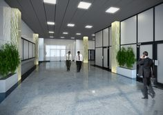 Projekt holu wejściowego projekt dla Oxford Tower Warszawa / The project of the entrance hall for Oxford Tower Warsaw