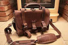 Saddleback Brown Leather classic briefcase satchel Bag