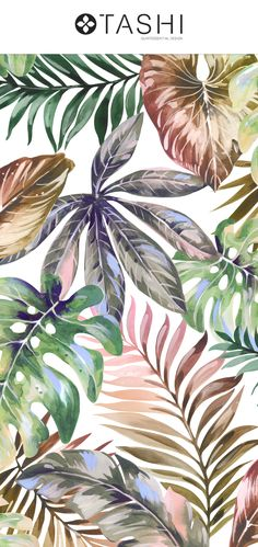 Super excited about this new pattern Palms, Luxurious hand painted water colour artwork developed into large and high resolution seamless patterns in Tropical Artwork, Ocean Fabric, Flower Pattern Design, Flamingo Art, Leaf Drawing, Tropical Pattern, Landscape Wallpaper, Bird Drawings, Pattern Illustration